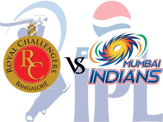 Royal Challangers Bangalore v Mumbai Indians