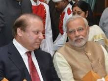 Modi and Sharif meeting at Hydrabaad House