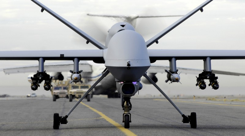 Armed American drones flying all over Baghdad