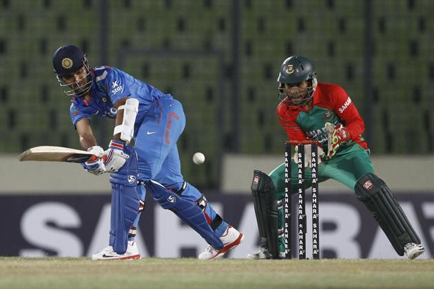 India beat Bangladesh by 7 wickets in rain affected 1st ODI