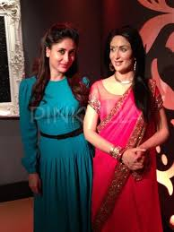 Kareena Kapoor restyles her wax statue in 'Ra.One' saree