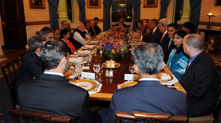 Prez Obama hosted a dinner in PM Modi's honour who is observing Navratri fasts