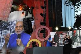 Prime Minister Modi enjoyed the crowd at New York's central park