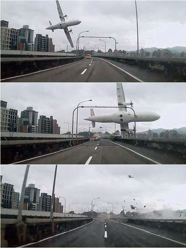 Taiwan plane crash lands in Taipei  river  with 58 people
